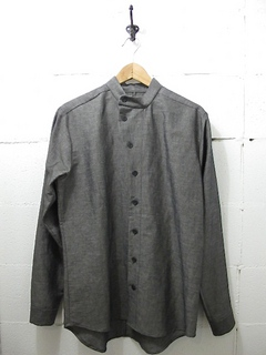 THE ESSENCE-GREY LINEN COTTON SHIRT