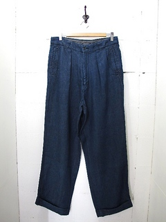 NEEDLES-LINEN DENIM 2 PLEATED TROUSER