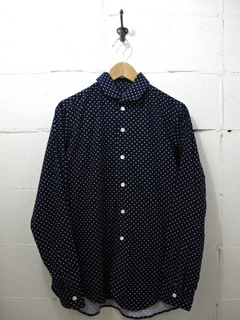NEEDLES-ITALIAN COLLAR SHIRT - POLKA DOT