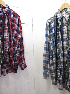 NEEDLES-RIBBON FLANNEL SHIRT