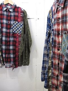 NEEDLES-7CUTS FLANNEL SHIRT