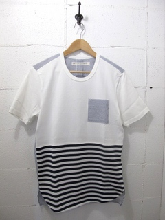 CURLY-切り替えボーダーTシャツ / CONFUSED BORDER TEE